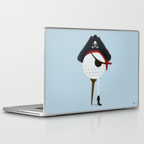 Pirate of the Open Tees Laptop & iPad Skin