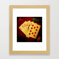 Escalera Real de Carro (Dirty Poker) Framed Art Print