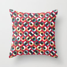 London Beauty target red Throw Pillow