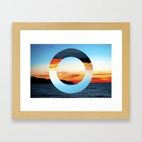 Decoy Geometry Framed Art Print