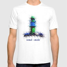 wmd mole. Mens Fitted Tee SMALL White