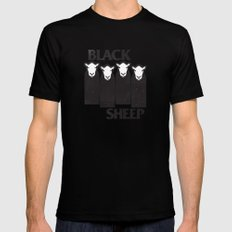 Black Sheep MEDIUM Black Mens Fitted Tee