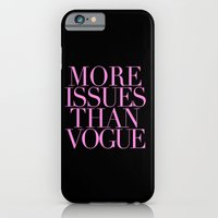 iPhone & iPod Case featuring MORE ISSUES {PINK} by natalie sales