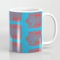 I Still Shoot Film Holga Logo - Blue & Red Mug