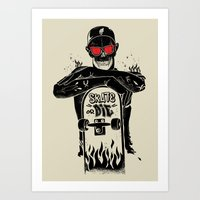 SKATE OR DIE Art Print