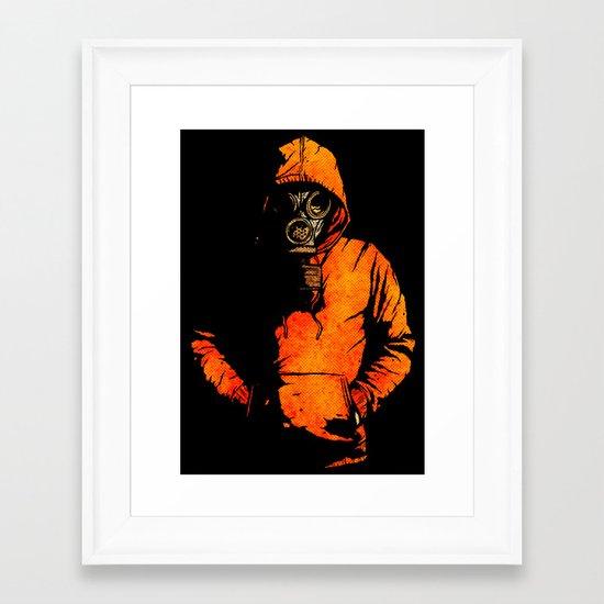 vulpes pilum mutat, non mores Framed Art Print