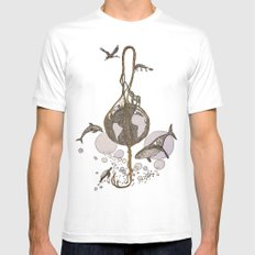 Earth melody White Mens Fitted Tee SMALL