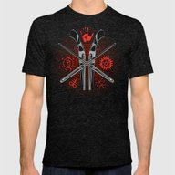 Perdition Mens Fitted Tee Tri-Black SMALL