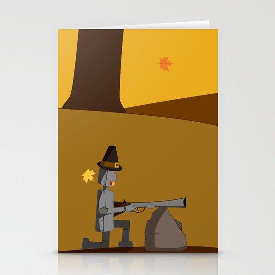 November Robot Stationery Card