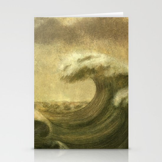 The Wave  Stationery Card