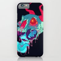 iPhone Cases featuring pink skull goop by SIINS