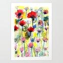 Poppy Floral Art Print