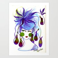 Cocotte Nepenthes Art Print