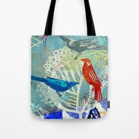 Birds in the backyard. Tote Bag