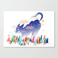 Catching The Lost Night Canvas Print