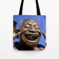 Yue Minjun Laughing men 1 Tote Bag