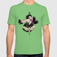 Queen of Wings Mens Fitted Tee Grass SMALL
