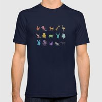Glitter Animals A Mens Fitted Tee Navy SMALL