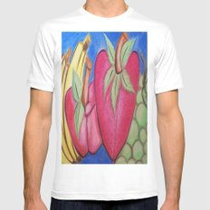 Fruity Mens Fitted Tee White SMALL