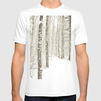 Wintry Mix Mens Fitted Tee White SMALL