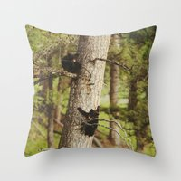 Climbing Cubs Throw Pillow