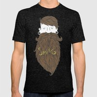 Beard Swag (Highlights) Mens Fitted Tee Tri-Black SMALL