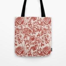 Toile de jouy (Roses) Tote Bag