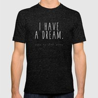 I HAVE A DREAM - john - black Mens Fitted Tee Tri-Black SMALL