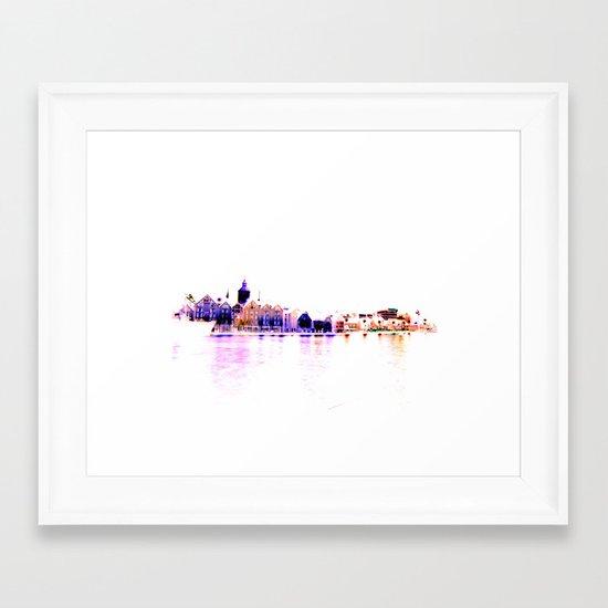 white harbor III. Framed Art Print