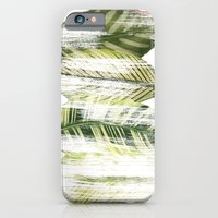 Brushed leaves iPhone 6 Slim Case