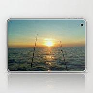 Laptop & iPad Skin featuring FISHING by Aztosaha