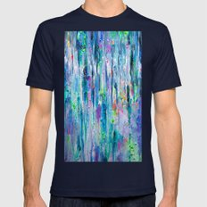 Silver Rain Mens Fitted Tee Navy SMALL