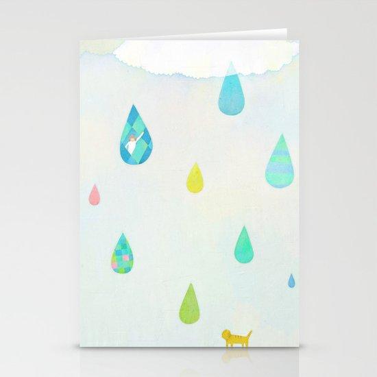Raindrop Stationery Card