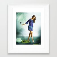 The Lili & The Frog Framed Art Print