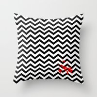 Black Lodge Dreams (Bloo… Throw Pillow