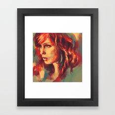 Your girl, she's a renegade. Framed Art Print