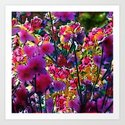 Amazing garden flowers 20 Art Print