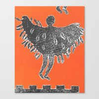 Canvas Print featuring Icarus and Daedalus VIII by RaiK