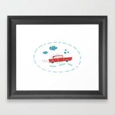 A ride Framed Art Print