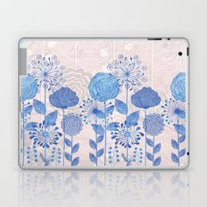 Light Blue Flowers Laptop & iPad Skin