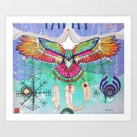 Flying Eagle Art Print