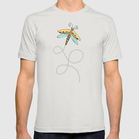 Summer Buzzin' Mens Fitted Tee Silver SMALL