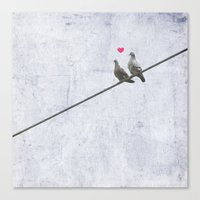 The Lovebirds Canvas Print