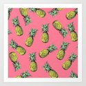 fresh pineapple! Art Print