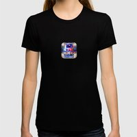 R2-D2 Womens Fitted Tee Black SMALL