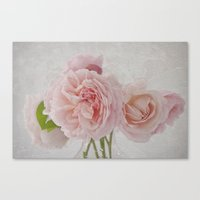 Canvas Print featuring Pretty in Pink by Fran Walding