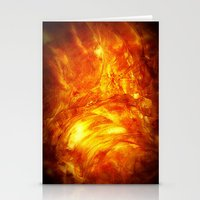 Surface Of The Sun Stationery Cards
