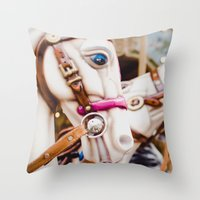 Carnival In Montmartre Throw Pillow
