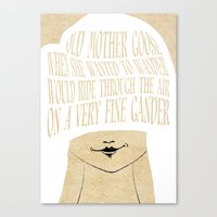 Old Mother Goose - Lesso… Canvas Print
