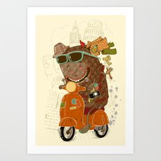 Packed and ready to go Art Print